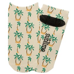 Palm Trees Adult Ankle Socks (Personalized)