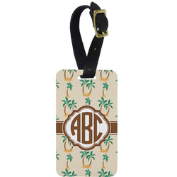 Palm Trees Aluminum Luggage Tag (Personalized)