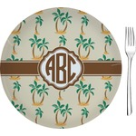 """Palm Trees Glass Appetizer / Dessert Plates 8"""" - Single or Set (Personalized)"""