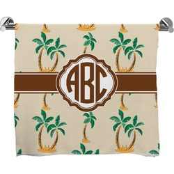 Palm Trees Full Print Bath Towel (Personalized)