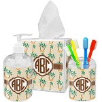 Palm Trees Bathroom Accessories Set (Personalized)