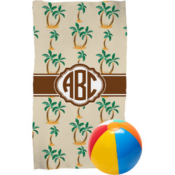 Palm Trees Beach Towel (Personalized)
