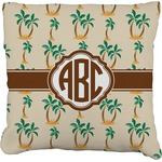 Palm Trees Faux-Linen Throw Pillow (Personalized)