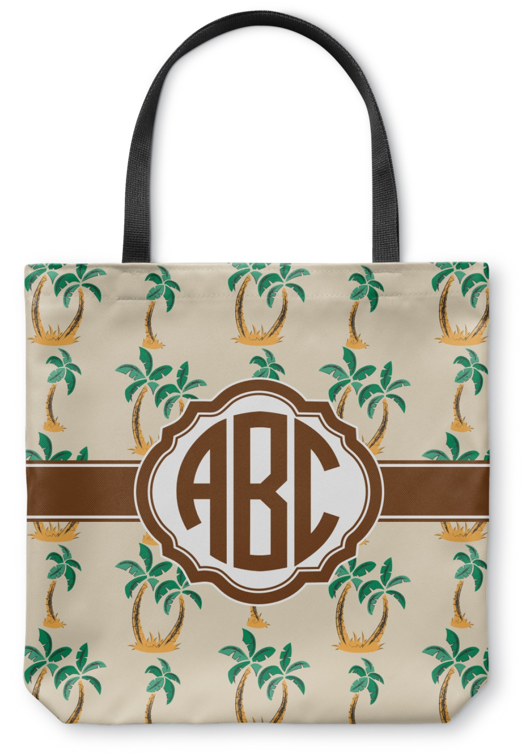 Palm Trees Canvas Tote Bag Large 18 Quot X18 Quot Personalized