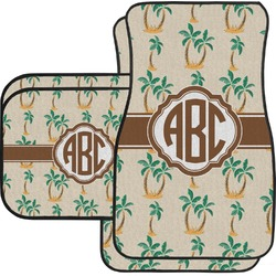 Palm Trees Car Floor Mats Set - 2 Front & 2 Back (Personalized)