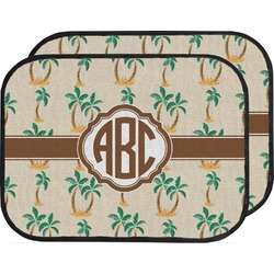 Palm Trees Car Floor Mats (Back Seat) (Personalized)