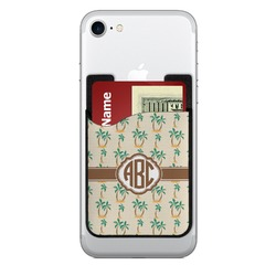 Palm Trees Cell Phone Credit Card Holder (Personalized)