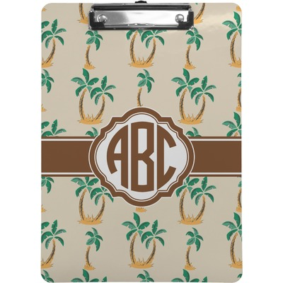 Palm Trees Clipboard Letter Size Personalized