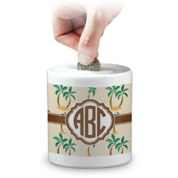 Palm Trees Coin Bank (Personalized)