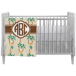 Palm Trees Crib Comforter / Quilt (Personalized)