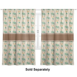 "Palm Trees Curtains - 20""x63"" Panels - Lined (2 Panels Per Set) (Personalized)"