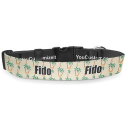 Palm Trees Deluxe Dog Collar (Personalized)