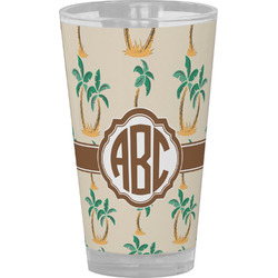 Palm Trees Drinking / Pint Glass (Personalized)