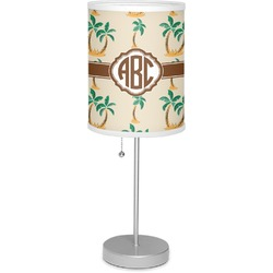 """Palm Trees 7"""" Drum Lamp with Shade Linen (Personalized)"""