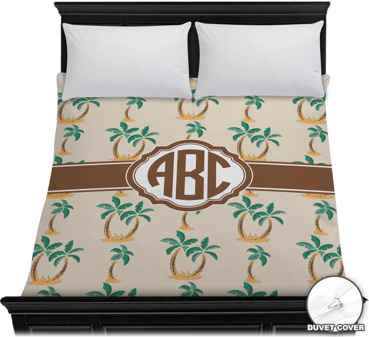 Palm Trees Duvet Cover Personalized