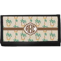 Palm Trees Canvas Checkbook Cover (Personalized)