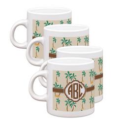 Palm Trees Espresso Mugs - Set of 4 (Personalized)