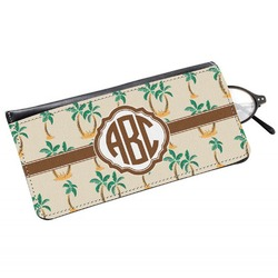 Palm Trees Genuine Leather Eyeglass Case (Personalized)