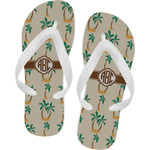 Palm Trees Flip Flops (Personalized)