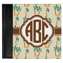Palm Trees Genuine Leather Baby Memory Book (Personalized)