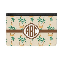 Palm Trees Genuine Leather ID & Card Wallet - Slim Style (Personalized)
