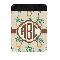 Palm Trees Genuine Leather Money Clip (Personalized)