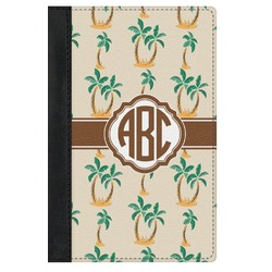 Palm Trees Genuine Leather Passport Cover (Personalized)