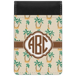 Palm Trees Genuine Leather Small Memo Pad (Personalized)