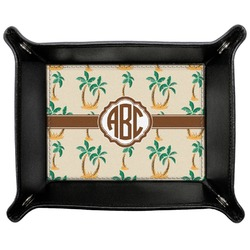 Palm Trees Genuine Leather Valet Tray (Personalized)