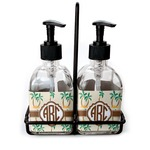 Palm Trees Soap & Lotion Dispenser Set (Glass) (Personalized)