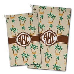 Palm Trees Golf Towel - Full Print w/ Monogram