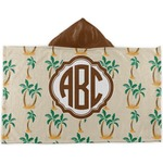 Palm Trees Kids Hooded Towel (Personalized)
