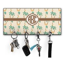 Palm Trees Key Hanger w/ 4 Hooks (Personalized)