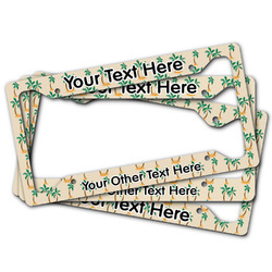 Palm Trees License Plate Frame (Personalized)