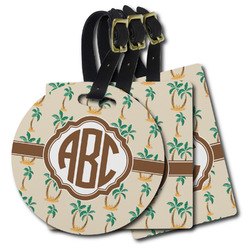 Palm Trees Plastic Luggage Tags (Personalized)