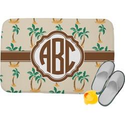 Palm Trees Memory Foam Bath Mat (Personalized)