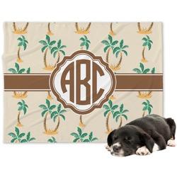 Palm Trees Minky Dog Blanket (Personalized)