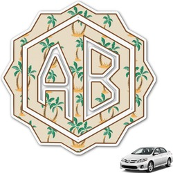 Palm Trees Monogram Car Decal (Personalized)