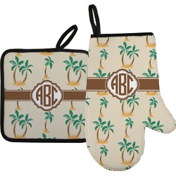 Palm Trees Oven Mitt & Pot Holder (Personalized)