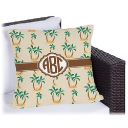 Palm Trees Outdoor Pillow (Personalized)