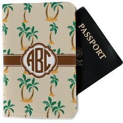 Palm Trees Passport Holder - Fabric (Personalized)