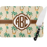 Palm Trees Rectangular Glass Cutting Board (Personalized)
