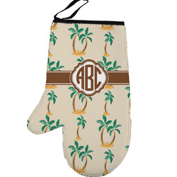 Palm Trees Left Oven Mitt (Personalized)