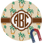 Palm Trees Round Magnet (Personalized)