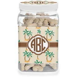 Palm Trees Pet Treat Jar (Personalized)