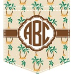 Palm Trees Iron On Faux Pocket (Personalized)