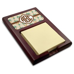 Palm Trees Red Mahogany Sticky Note Holder (Personalized)