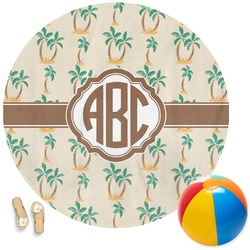 Palm Trees Round Beach Towel (Personalized)