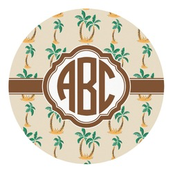 Palm Trees Round Decal - Custom Size (Personalized)