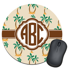 Palm Trees Round Mouse Pad (Personalized)